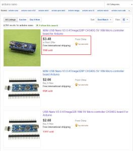 eBay vyhledávač